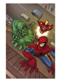 Marvel Adventures Super Heroes No3 Cover: Spider-Man  Hulk and Iron Man