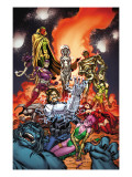 Exiles No4 Cover: Forge  Jocasta  Machine Man  Ultron and Vision Fighting