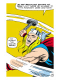 Marvel Comics Retro: Mighty Thor Comic Panel  Swinging Hammer