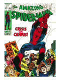 Marvel Comics Retro: The Amazing Spider-Man Comic Book Cover No68  Crisis on Campus