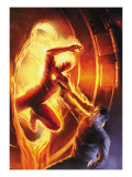 Marvel Comics No1 70th Anniversary Edition Cover: Human Torch