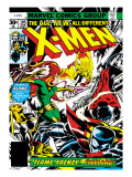 Marvel Comics Retro: The X-Men Comic Book Cover No105  Phoenix  Colossus  Storm  Firelord