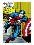 Marvel Comics Retro: Captain America Comic Panel  US naval Hospital