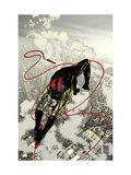 Daredevil 66 Cover: Daredevil Fighting and Flying