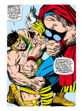 Marvel Comics Retro: Mighty Thor Comic Panel  Hercules