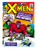Marvel Comics Retro: The X-Men Comic Book Cover 4  Scarlet Witch  Quicksilver  Toad  Magneto