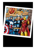 Thor 73 Group: Thor  Iron Man and Captain America