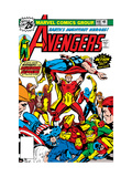Avengers No148 Cover: Iron Man  Captain America  Hyperion  Thor  Avengers and Squadron Supreme