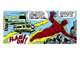 Marvel Comics Retro: Fantastic Four Comic Panel  Human Torch
