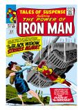 Marvel Comics Retro: The Invincible Iron Man Comic Book Cover No53  Black Widow Strikes Again