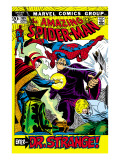 The Amazing Spider-Man No109 Cover: Spider-Man  Dr Strange  and Flash Thompson