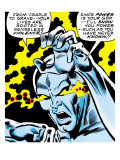 Marvel Comics Retro: Silver Surfer Comic Panel  Unleashing Power