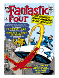 Marvel Comics Retro: Fantastic Four Family Comic Book Cover No3  Flying