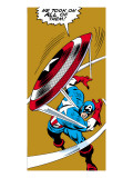 Marvel Comics Retro: Captain America Comic Panel  Throwing Shield