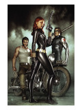 Black Widow: Deadly Origins 1 Cover: Black Widow  Bucky and Wolverine