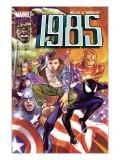 Marvel 1985 No6 Cover: Spider-Man  Captain America  Iron Man and Hulk