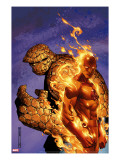 Fantastic Four 56 Cover: Thing and Human Torch