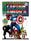 Marvel Comics Retro: Captain America Comic Book Cover 100  with Black Panther  Thor  Namor  Wasp