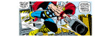 Marvel Comics Retro: Mighty Thor Comic Panel  Flying and Jumping