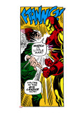 Marvel Comics Retro: The Invincible Iron Man Comic Panel  Fighting