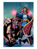 Excalibur 13 Cover: Dr Strange  Magneto and Professor X
