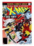 Marvel Comics Retro: The X-Men Comic Book Cover 103 with Storm  Nightcrawler  Banshee  Juggernaut