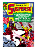 Marvel Comics Retro: The Invincible Iron Man Comic Book Cover No52  Facing the Crimson Dynamo