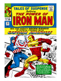 Marvel Comics Retro: The Invincible Iron Man Comic Book Cover 58  Facing Captain America