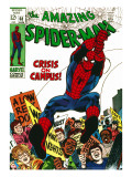 Marvel Comics Retro: The Amazing Spider-Man Comic Book Cover 68  Crisis on Campus