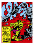 Marvel Comics Retro: The Incredible Hulk Comic Panel  Rage and Crash