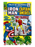 Tales Of Suspense 60 Cover: Iron Man  Captain America  Hawkeye and Assasin Fighting