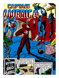 Captain America Comics No3 Cover: Captain America  Bucky and Red Skull