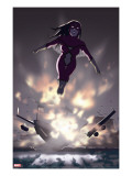 Spider-Woman: Origin 3 Cover: Spider Woman Charging