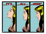 Marvel Comics Retro: Love Comic Panel  Crying  It's All Over!