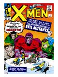 Marvel Comics Retro: The X-Men Comic Book Cover No4  Scarlet Witch  Quicksilver  Toad  Magneto