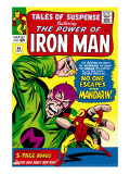 Tales Of Suspense No55 Cover: Iron Man and Mandarin Fighting
