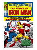Tales Of Suspense 58 Cover: Iron Man and Captain America Fighting