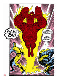 Marvel Comics Retro: Fantastic Four Comic Panel  Thing  Mr Fantastic  Human Torch
