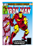 Marvel Comics Retro: The Invincible Iron Man Comic Book Cover 126  Suiting Up for Battle