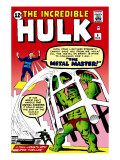 The Incredible Hulk 6 Cover: Hulk and Metal Master Fighting