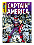 Marvel Comics Retro: Captain America Comic Book Cover No107  with Red Skull and Bucky