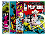Marvel Comics Presents 4 Cover: Wolverine  Razorfist  Marvel Babies and Spider-Man Fighting