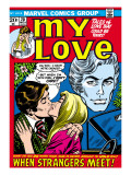 Marvel Comics Retro: My Love Comic Book Cover 20  Kissing  When Strangers meet!