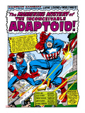 Marvel Comics Retro: Captain America Comic Panel  The Inconceivable Adaptoid! with Bucky