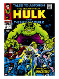 Marvel Comics Retro: The Incredible Hulk Comic Book Cover 101  with the Sub-Mariner
