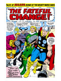 Marvel Comics Retro: Mighty Thor Comic Panel  Tales of Asgard  the Fateful Change!