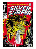 Marvel Comics Retro: Silver Surfer Comic Book Cover No3  Fighting Mephisto