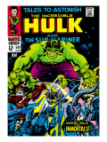 Marvel Comics Retro: The Incredible Hulk Comic Book Cover No101  with the Sub-Mariner