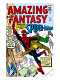 Amazing Fantasy 15 Cover: Spider-Man Swinging