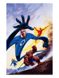Marvel Double-Shot 3 Cover: Mr Fantastic  Invisible Woman  Human Torch and Thing Swimming